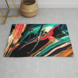 ABSTRACT COLORFUL PAINTING II-A Rug