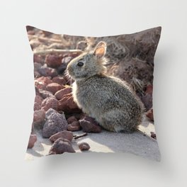 Baby Bunny Throw Pillow