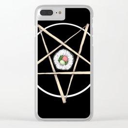 Sushi Pentagram Clear iPhone Case