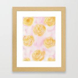 Soft Pastel Florals Framed Art Print