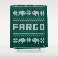 sweater Shower Curtains featuring Fargo Sweater by Mandrie