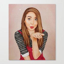 Zoella Kisses Canvas Print