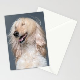 Asia - Afganhound - Dog Portrait - Stationery Cards