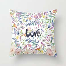 Love flowers Throw Pillow