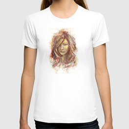 Olivia Wilde Digital Painting Portrait T-shirt