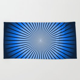 Star Blue Beach Towel