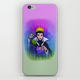 Snow White Evil Queen Watercolor iPhone Skin
