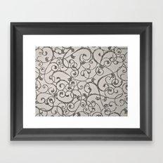 Glitter Swirl Framed Art Print