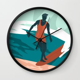 Solo Surf Wall Clock