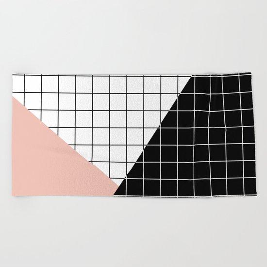 Minimal Geometry Beach Towel