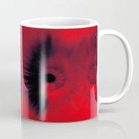 all seeing eye Mugs featuring EYE AM All Seeing by Eye Am