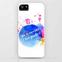 """Percy Jackson Percabeth House of Hades """"I love you too!"""" Quote iPhone Case"""