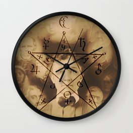 Spiritualist Mandala Wall Clock