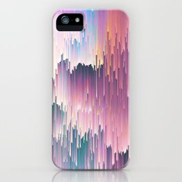 Rainbow Glitches iPhone Case