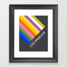 Colors of Los Angeles Framed Art Print