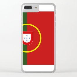 portugal flag Clear iPhone Case