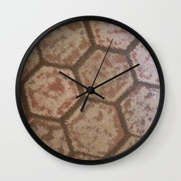 Weathered Honeycomb Tile Wall Clock