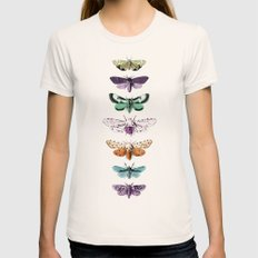 Techno-Moth Collection Natural Womens Fitted Tee MEDIUM