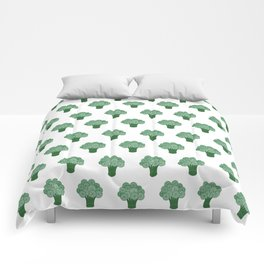 Pattern Green Broccoli  Comforters