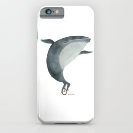 Whale Unicycle iPhone Case