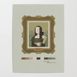 Mona Lisa Selfie Poster