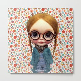 ERREGIRO CUSTOM BLYTHE DOLL FLOWERS Metal Print