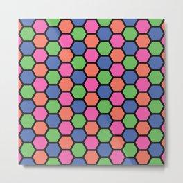 Haha Hexagon Metal Print