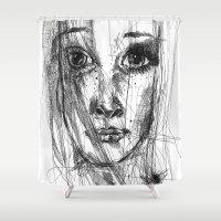 leah flores Shower Curtains featuring LEAH by EDEN