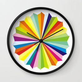 Rainbow colorful triangles Wall Clock