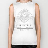 illuminati Biker Tanks featuring Illuminati by Fabian Bross