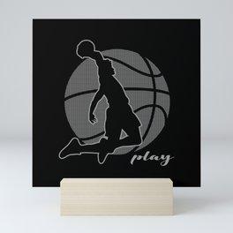 Basketball Player (monochrome) Mini Art Print