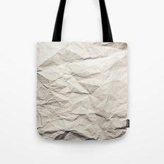 Crumpled Paper Tote Bag