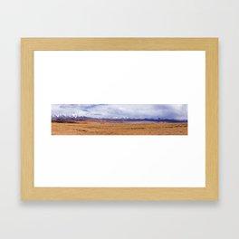 Tibet typical mountain landscape Framed Art Print