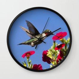 Hummingbird Moment Wall Clock