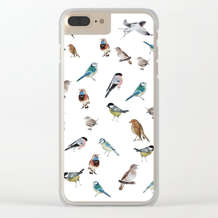 I love birds Clear iPhone Case