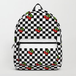 Checkered Cherries Backpack