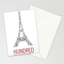 Hundred most used french words Stationery Cards