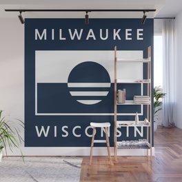 Milwaukee Wisconsin - Navy - People's Flag of Milwaukee Wall Mural