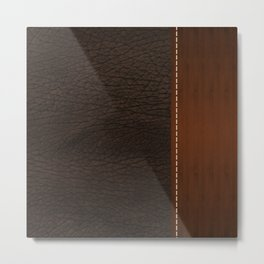 Brown leather look #1 Metal Print