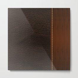 Brown leather look #1 Metal Print
