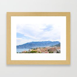 Colorful Sights in Sorrento, Italy Framed Art Print
