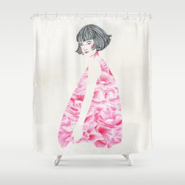 poppy girl Shower Curtain