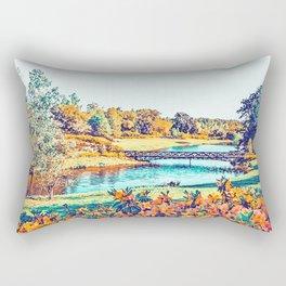 Garden Stroll #painting #nature Rectangular Pillow