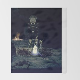 Night of the Zombies Throw Blanket