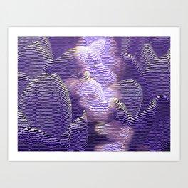 Striped crocus petals with bokeh effect Art Print