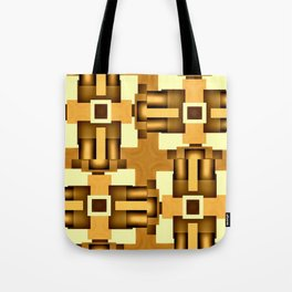 Gold Beige Pipe System,Streampunk Tote Bag
