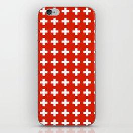 flag of switzerland 2-Switzerland, Alps,swiss,Schweizer,suisse,zurich,bern,geneva iPhone Skin