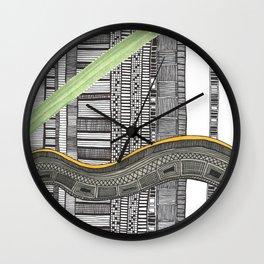 Hand drawn pattern wave Wall Clock