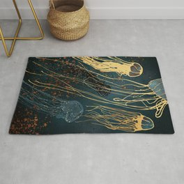 Metallic Jellyfish Rug