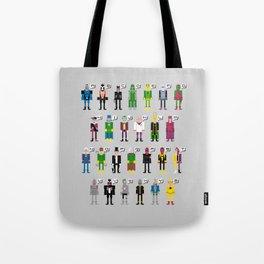 Pixel Supervillain Alphabet Tote Bag